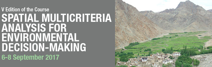 Training course: Spatial multicriteria analysis for environmental decision-making