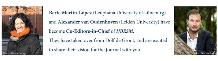 New Co-Editors in Chief of IJBESM share their vision for the journal