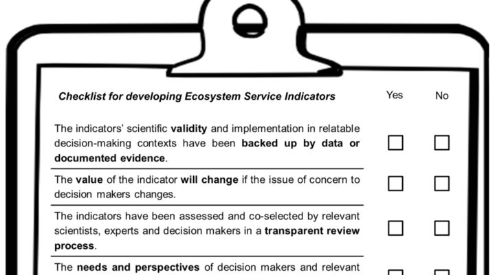 ESP TWG3 published a new paper on ES indicator selection criteria