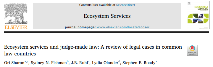 Ecosystem Services and Judge-Made Law: A Review of Legal Cases in Common Law Countries
