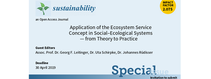 Call for papers: Application of the Ecosystem Service Concept in Social-Ecological Systems – from Theory to Practice