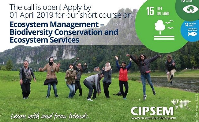 77th UNEP/UNESCO/BMU International Short Course on Ecosystem Management – Biodiversity Conservation and Ecosystem Services