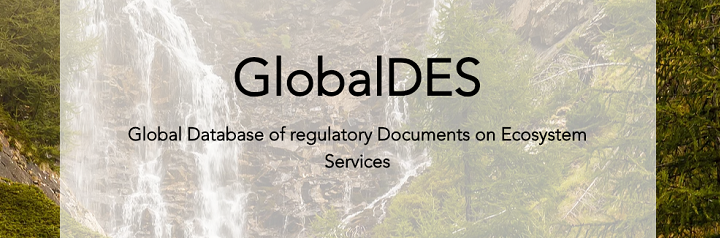 GlobalDES: Global Database of regulatory Documents on Ecosystem Services