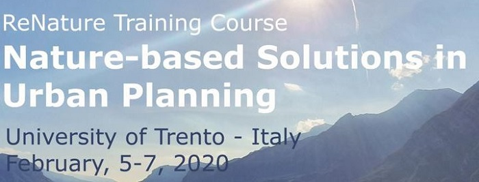 """Training course """"Nature-based solutions in Urban Planning"""" @ University of Trento"""
