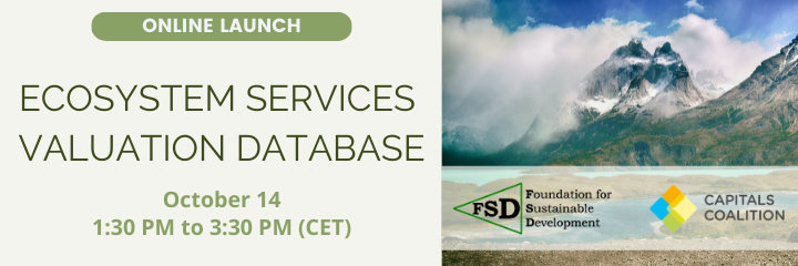 Use the Ecosystem Services Valuation Database to assess the monetary value of nature anywhere on earth